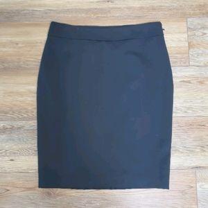 Ann Taylor Pencil Skirt 10P 10 Petite Solid Black